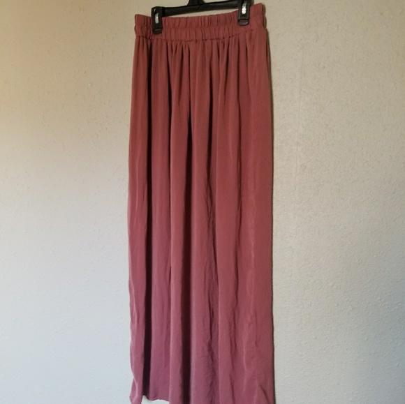 858fbe847 Forever 21 Skirts | Dusty Rose Satin Maxi Skirt | Poshmark